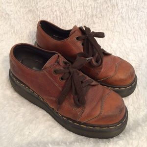 Dr Martens oxfords brown chunky soles steampunk